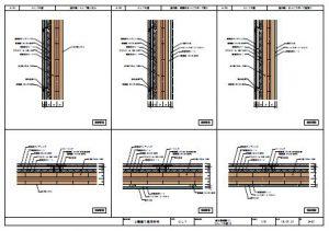 CLTを用いた2階建て建築物_部分詳細図
